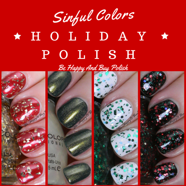 Sinful Colors Holiday glitters | Be Happy And Buy Polish