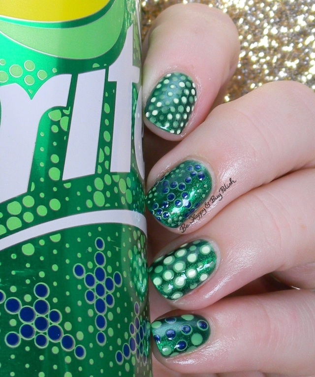 Sprite Snowflakes Nail Art | Be Happy And Buy Polish