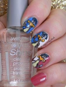 Three French Hens nail art | Be Happy And Buy Polish