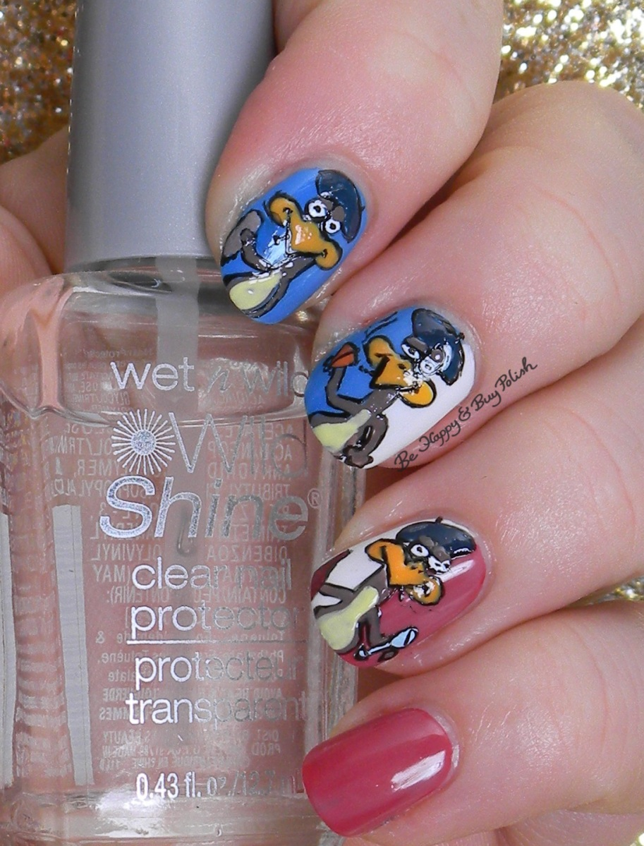 12 Days of Christmas Nail Art: 3 French Hens