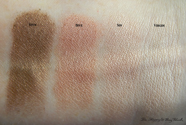 Urban Decay Naked on the Run eyeshadow arm swatches | Be Happy And Buy Polish