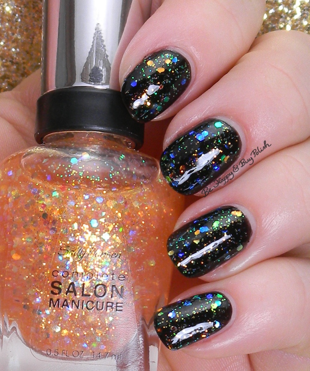 Sally Hansen Midnight in NY + Pink Dream swatches + review