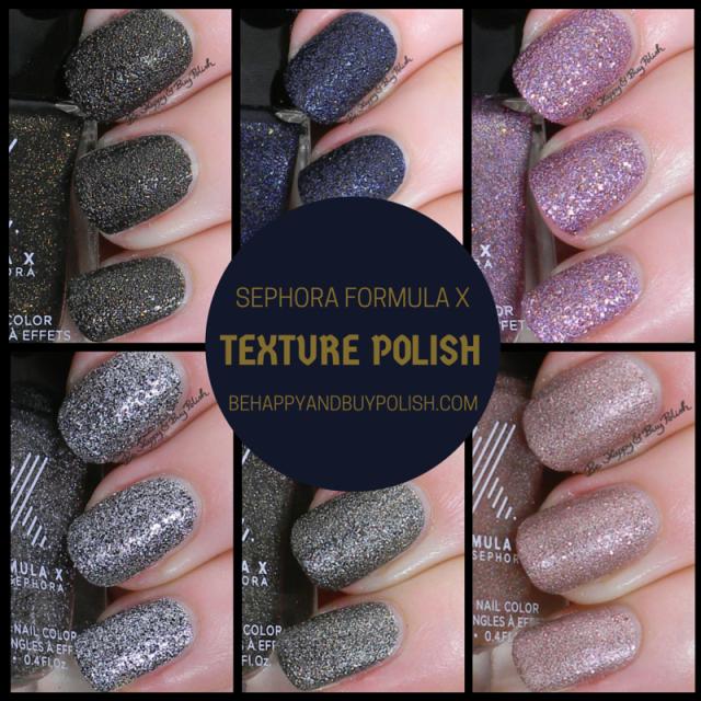 Sephora Formula X textured polishes | Be Happy and Buy Polish