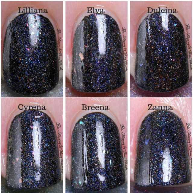 ellagee Faerie Princess nail polish collection over Cult Nails Nevermore