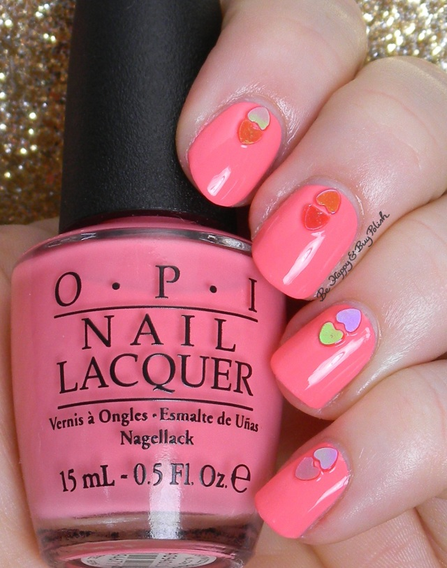 OPI Sorry I'm Fizzy Today with Born Pretty Store hearts | Be Happy And Buy Polish