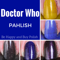 Pahlish Doctor Who polishes swatches + review