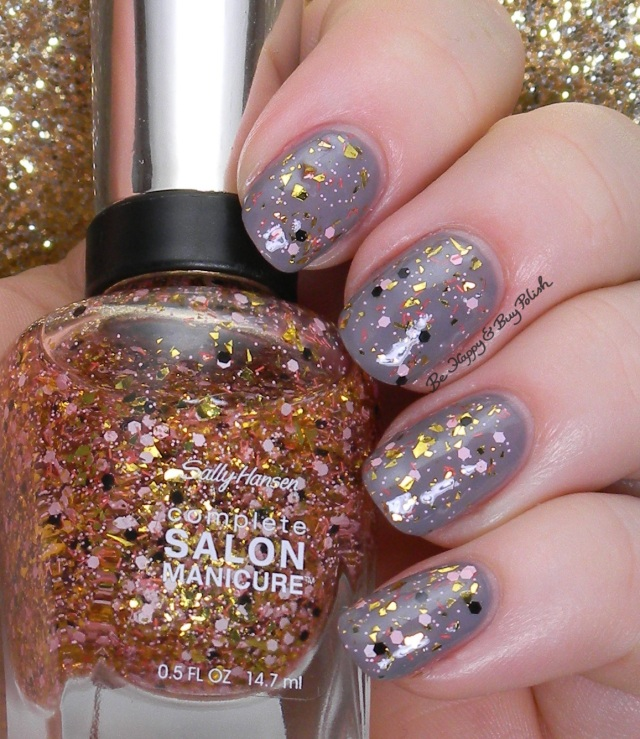 Sally Hansen Vintage Confetti over Greige Gardens | Be Happy And Buy Polish