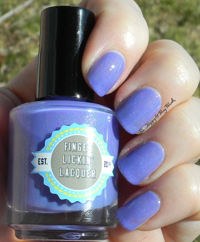 Finger Lickin' Lacquer Lilac Festival sun shot | Be Happy And Buy Polish