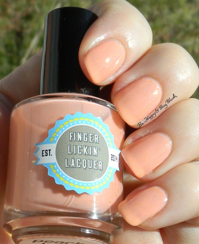 Finger Lickin' Lacquer Peachy Keen sun shot | Be Happy And Buy Polish