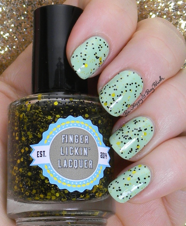 Finger Lickin' Lacquer She Works Hard For the Honey over OPI That's Hula-rious | Be Happy And Buy Polish