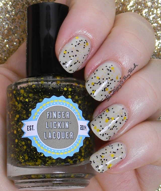 Finger Lickin' Lacquer She Works Hard For the Honey over Quite Contrary | Be Happy And Buy Polish