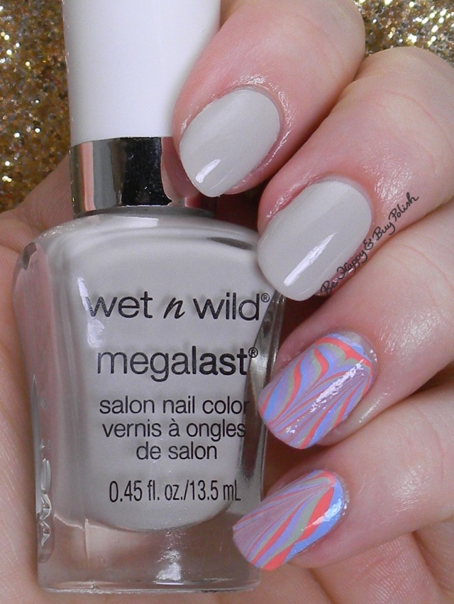 Wet N Wild Silver Lake dry water marble | Be Happy And Buy Polish