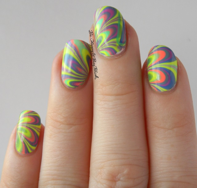 B Squared Lacquer EDM Collection watermarble natural light left hand | Be Happy And Buy Polish