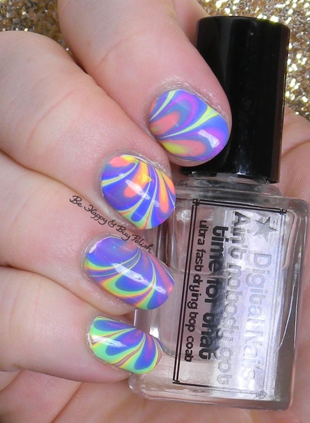B Squared Lacquer EDM Collection watermarble right hand | Be Happy And Buy Polish