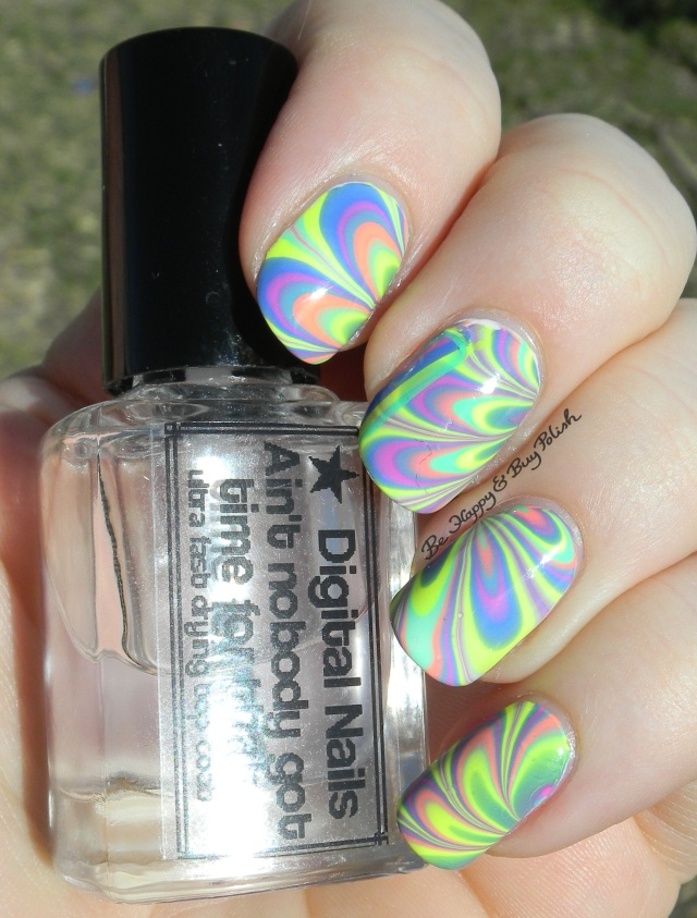 B Squared Lacquer EDM Collection watermarble sunlight left hand | Be Happy And Buy Polish
