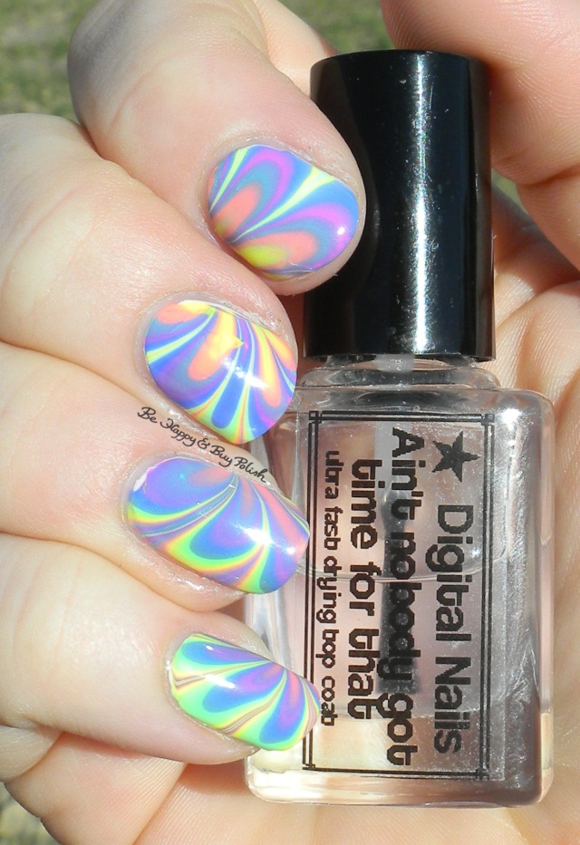 B Squared Lacquer EDM Collection watermarble sunlight right hand | Be Happy And Buy Polish