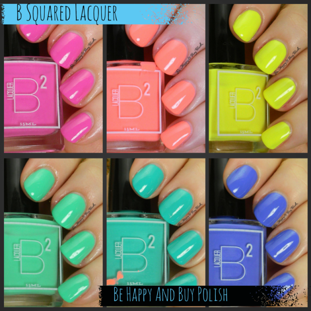 B Squared Lacquer EDM nail polish collection | Be Happy And Buy Polish