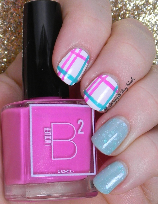 Easter Plaid Nail Art | Be Happy And Buy Polish