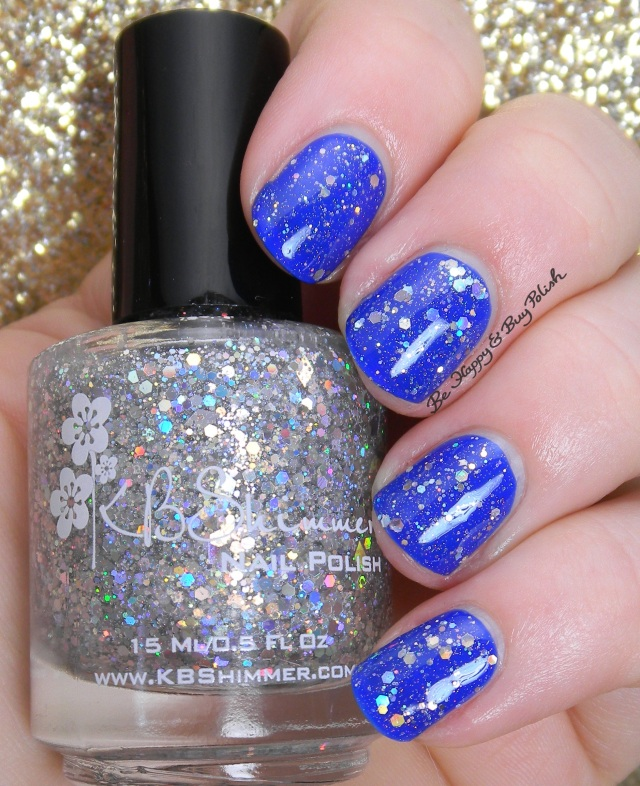KBShimmer Ice Queen over KBShimmer Low and Be Bold | Be Happy And Buy Polish