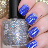 KBShimmer Low & Be Bold + Ice Queen swatch + review