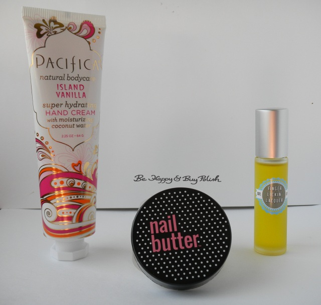 Pacifica Hand Cream Island Vanilla, Nail Butter, Finger Lickin Lacquer Grass cuticle oil | Be Happy And Buy Polish