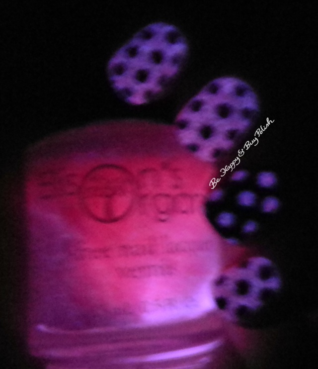 Ellison's Organics Dazzling, Renaissance Cosmetics Out of the Dark glow in the dark dotticure | Be Happy and Buy Polish