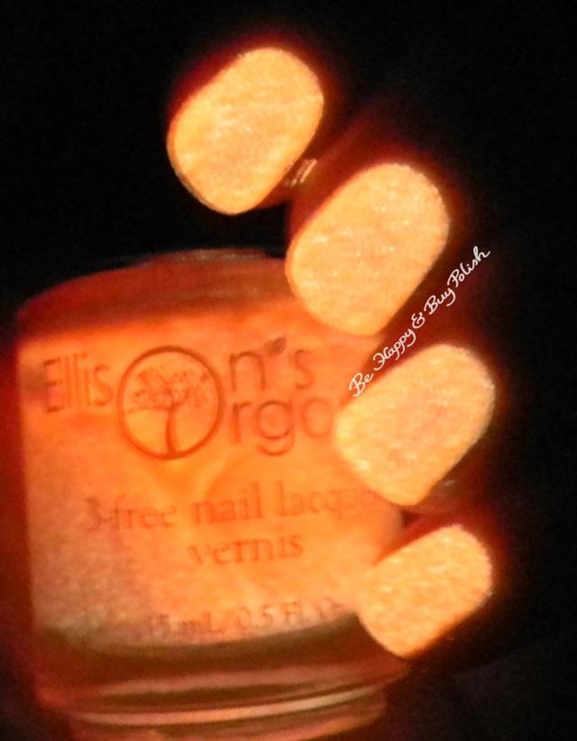 Ellison's Organics Extraordinary glow in the dark   Be Happy and Buy Polish