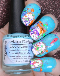 Ellison's Organics Mani Defense Liquid Latex Shield splatter nails | Be Happy and Buy Polish