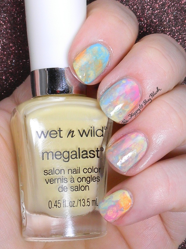 Wet N Wild California Dreamin splotched nail art | Be Happy and Buy Polish