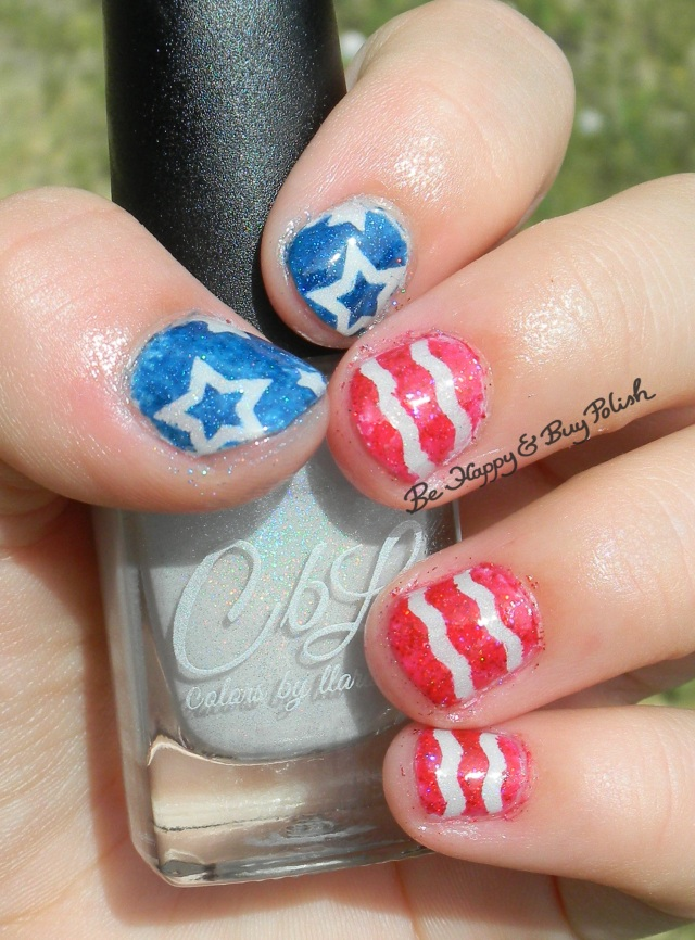American flag stars wavy lines childs nail art | Be Happy And Buy Polish