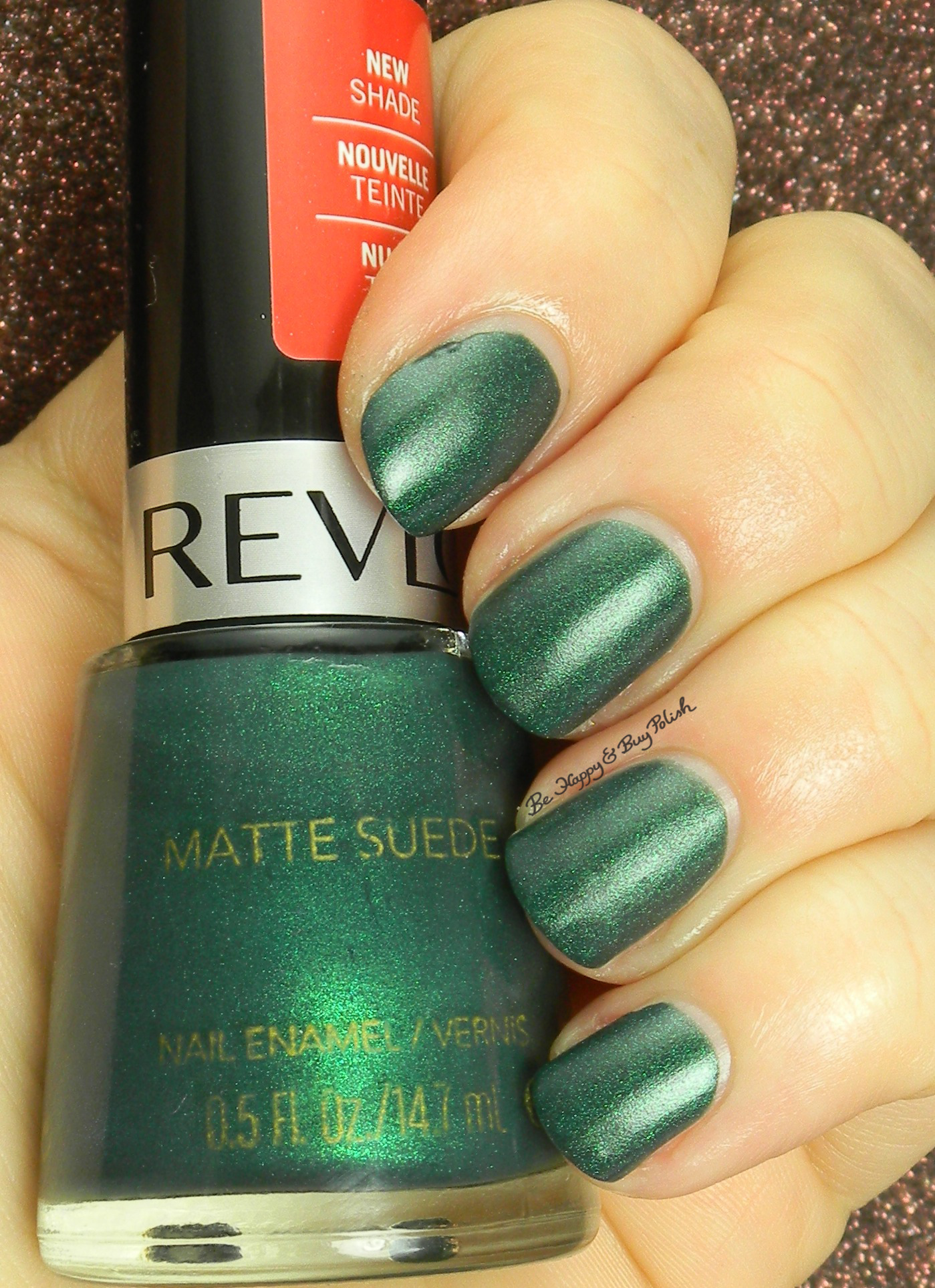 Revlon Emerald City Matte Suede Swatch Review Be Happy And Buy Polish