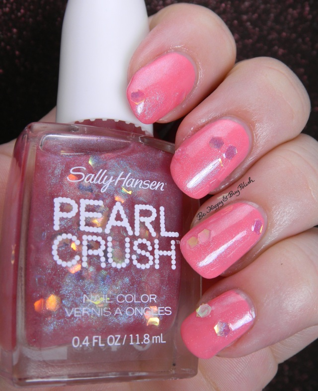 Sally Hansen Pearl Crush Lady Crab over Peach Beach | Be Happy And Buy Polish