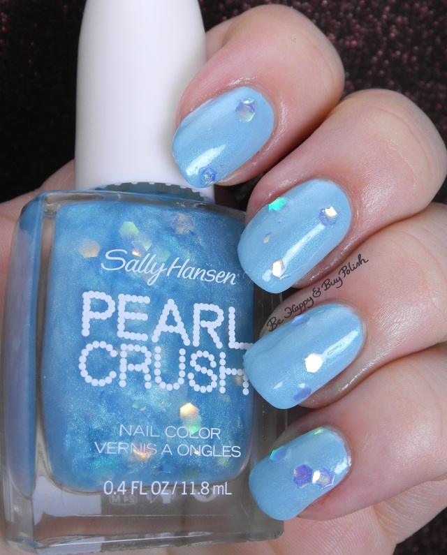 Sally Hansen Pearl Crush Rainbow Fish over Wet Suit | Be Happy And Buy Polish