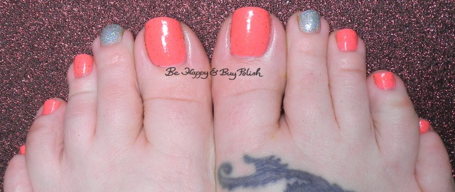 Scofflaw Pink Elephants on Parade, ellagee The Cold Never Bothered Me Anyway pedicure | Be Happy And Buy Polish