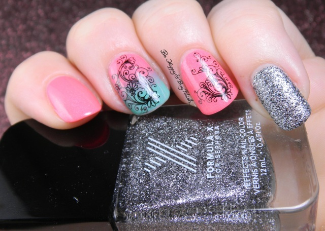 Formula X Revolution, KBShimmer Shore Thing, Pahlish 10:6 Born Pretty Store water slide decal | Be Happy And Buy Polish