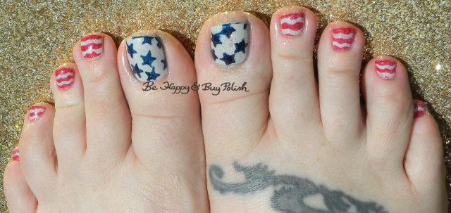 Independence Day pedicure | Be Happy And Buy Polish