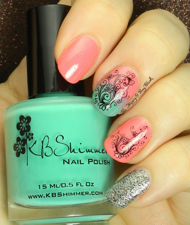 KBShimmer Shore Thing, Pahlish 10:6 Born Pretty Store water slide decal | Be Happy And Buy Polish