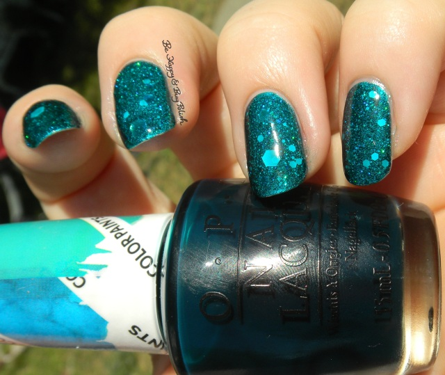 OPI Silver Canvas, Turquoise Aesthetic, My Voice Is a Little Norse, Snow Globetrotter sun photo | Be Happy And Buy Polish