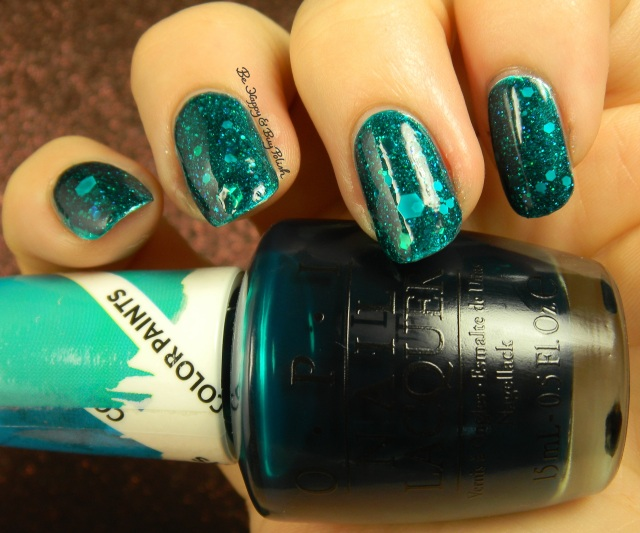 OPI Silver Canvas, Turquoise Aesthetic, My Voice Is a Little Norse, Snow Globetrotter | Be Happy And Buy Polish