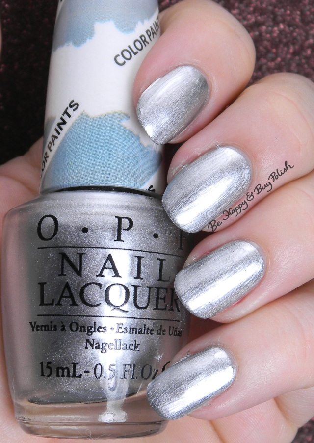 OPI Silver Canvas | Be Happy And Buy Polish