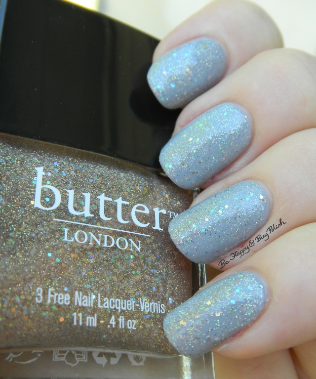 butter LONDON Tart with a Heart over Orly Boho Bonnet shade photo | Be Happy And Buy Polish