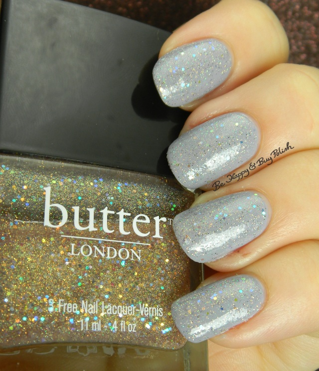 butter LONDON Tart with a Heart over Orly Boho Bonnet | Be Happy And Buy Polish