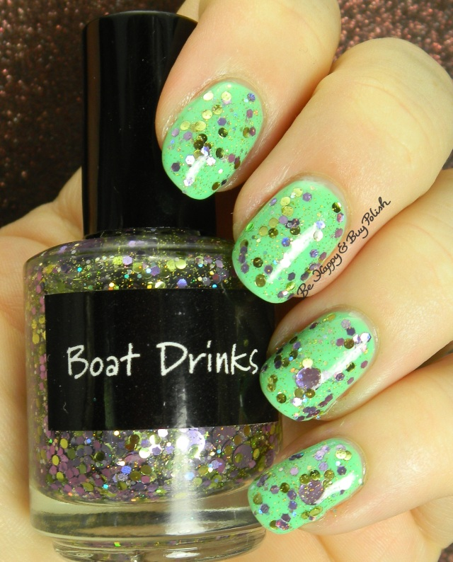 CrowsToes Boat Drinks over Verity Soft Green | Be Happy And Buy Polish
