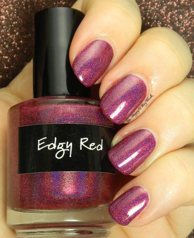 CrowsToes Edgy Red   Be Happy And Buy Polish