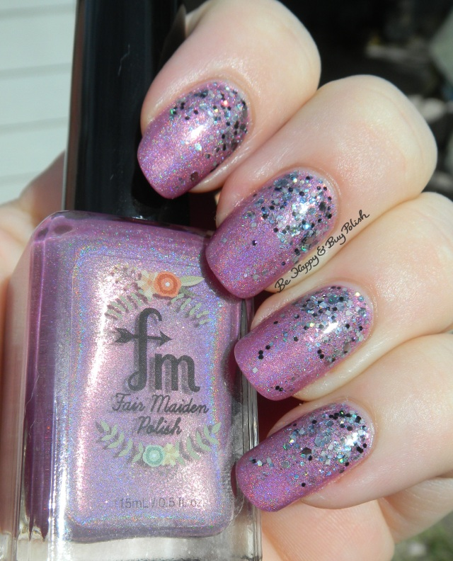 Fair Maiden Polish Lokelani and Pahlish The Clock is Striking Twelves glitter gradient | Be Happy And Buy Polish