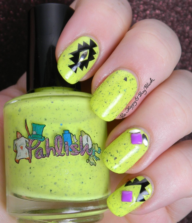 KBShimmer Tribal Nail Vinyls with Pahlish Little Bread and Butterflies | Be Happy And Buy Polish