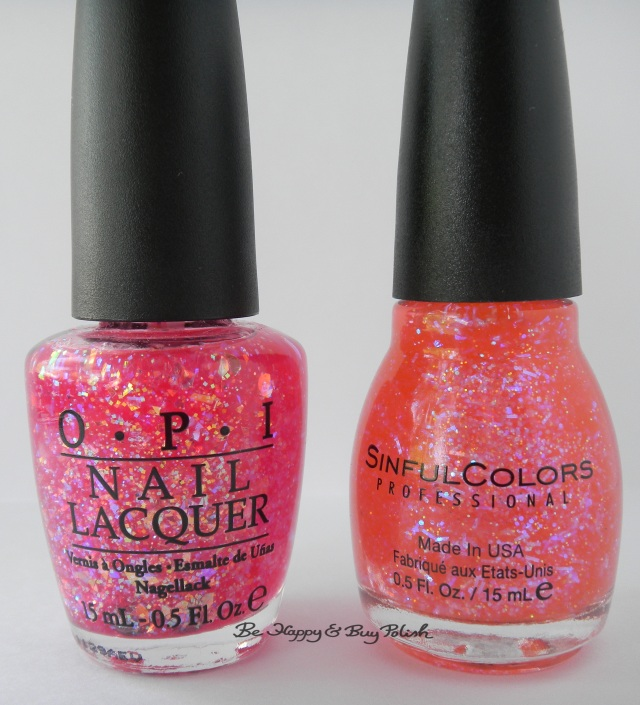 OPI I Lily Love You vs Sinful Colors Pink Ansen bottle comparison | Be Happy And Buy Polish