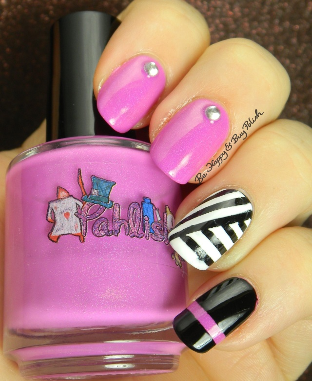 Pahlish How Doth the Little Crocodile skittlette with black and white stripes | Be Happy And Buy Polish