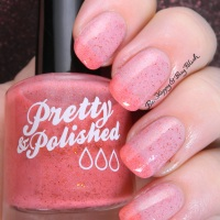 Pretty & Polished Strawberry Lemon Ice + Coral Grimes swatches + review