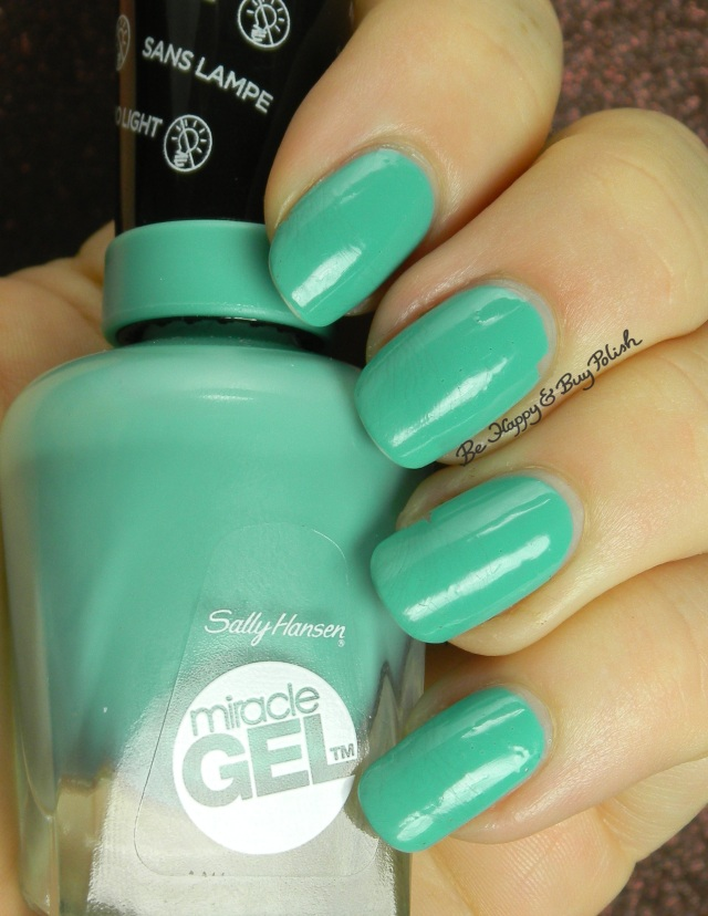 Sally Hansen Miracle Gel  Geo-Mint-ric wear test | Be Happy And Buy Polish